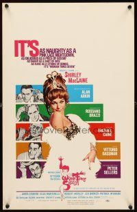 3x158 WOMAN TIMES SEVEN WC '67 sexy Shirley MacLaine is as naughty as a pink lace nightgown!