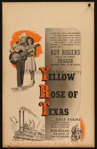 3x159 YELLOW ROSE OF TEXAS WC '44 great image of Roy Rogers playing guitar for Dale Evans!