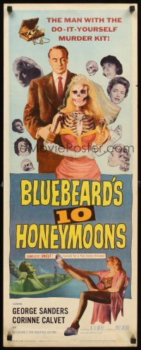 4g203 BLUEBEARDS 10 HONEYMOONS insert 60 wild art of George Sanders with skeleton bride