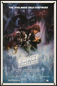 4k189 EMPIRE STRIKES BACK 1sh '80 George Lucas classic, GWTW art by Roger Kastel!