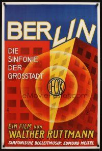4j753 BERLIN: SYMPHONY OF A GREAT CITY German commercial poster '00s wonderful artwork!