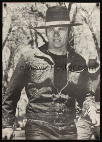 4j698 BILLY JACK commercial poster '71 best close up of Tom Laughlin wearing hat!