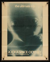 4j071 2001: A SPACE ODYSSEY special 22x28 R70s Stanley Kubrick, super close image of star child!