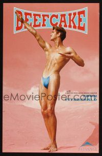 4j076 BEEFCAKE pink style special 11x17 '98 bio of Bob Mizer, founder of the Athletic Model Guild!