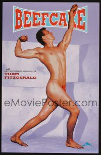 4j077 BEEFCAKE purple style special 11x17 '98 bio of Bob Mizer, founder of the Athletic Model Guild!