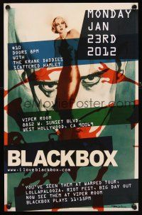 4j523 BLACKBOX signed & hand numbered 51/100 11x17 music poster '12 by artist, The Walking Dead!
