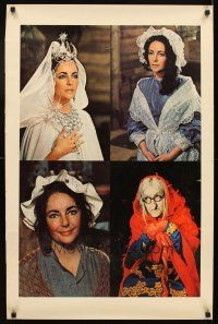 4j045 ELIZABETH TAYLOR special 23x25 '70s great images of pretty actress in classic roles!