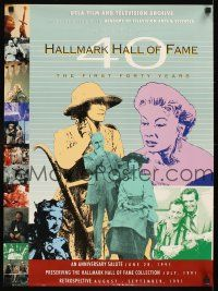 4j018 HALLMARK HALL OF FAME THE FIRST FORTY YEARS film festival poster '91 great images of stars!