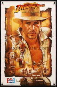 4j050 INDIANA JONES & THE LAST CRUSADE Pepsi-Cola special 23x35 '89 Harrison Ford by Drew!