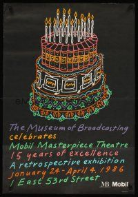 4j020 MUSEUM OF BROADCASTING CELEBRATES MOBIL MASTERPIECE THEATRE film festival poster '86