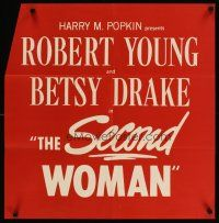 4j063 SECOND WOMAN special 25x26 '50 Robert Young & Betsy Drake, film noir!