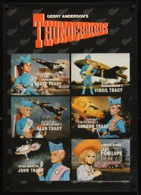4j070 THUNDERBIRDS TV special 25x35 '98 really cool wonderful images from puppet animation!