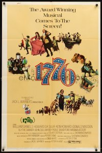 4m005 1776 1sh '72 William Daniels, the award winning historical musical comes to the screen!