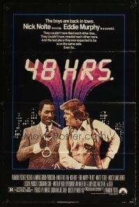 4m011 48 HRS. 1sh '82 Nick Nolte is a cop who hates Eddie Murphy who is a convict!