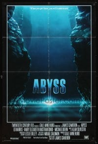 4m020 ABYSS int'l 1sh '89 directed by James Cameron, Ed Harris, Mary Elizabeth Mastrantonio!