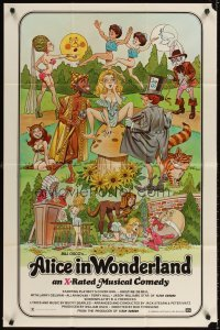 4m029 ALICE IN WONDERLAND 1sh '76 x-rated, sexy Playboy's cover girl Kristine De Bell!