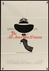 4m031 ALL AMERICAN WOMAN 1sh '76 Marilyn James, sexy art, you don't have to be French!