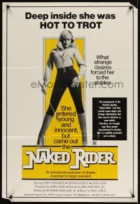 4m034 ALL THE YOUNG WIVES 1sh R77 sexy Linda Cook w/riding crop, The Naked Rider!