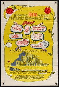 4m041 AND NOW FOR SOMETHING COMPLETELY DIFFERENT 1sh '72 Monty Python kills the motion picture!