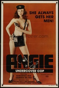4m045 ANGIE UNDERCOVER COP 1sh '80 Samantha Fox is the naked police woman who always gets her man!