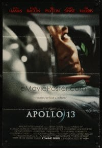 4m046 APOLLO 13 advance DS 1sh '95 directed by Ron Howard, Houston, we have a problem!