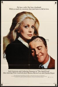 4m047 APRIL FOOLS 1sh '69 Jack Lemmon & Catherine Deneuve are married but not to each other!