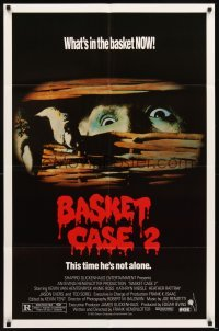 4m066 BASKET CASE 2 1sh '90 Frank Henenlotter horror comedy sequel, this time he's not alone!