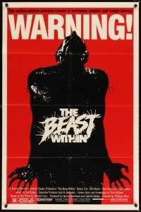 4m071 BEAST WITHIN 1sh '82 BEWARE! This motion picture contains graphic and violent horror!