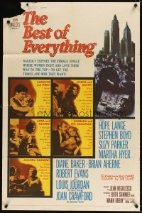 4m077 BEST OF EVERYTHING 1sh '59 Hope Lange, Stephen Boyd, nakedly exposes the female jungle!