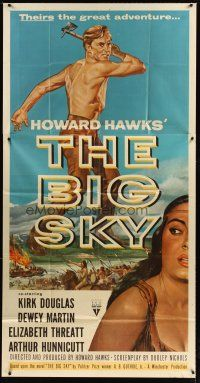 4s572 BIG SKY 3sh '52 Kirk Douglas in Howard Hawks' mighty adventure of the Great Northwest!