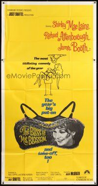 4s578 BLISS OF MRS. BLOSSOM 3sh '68 Shirley MacLaine, Richard Attenborough, wacky bra design!