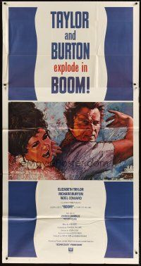 4s580 BOOM 3sh '68 Elizabeth Taylor & Richard Burton, Tennessee Williams, Joseph Losey!