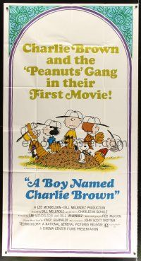 4s582 BOY NAMED CHARLIE BROWN 3sh '70 baseball art of Snoopy & the Peanuts by Charles M. Schulz!