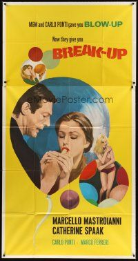 4s586 BREAK-UP int'l 3sh '68 Marcello Mastroianni, Catherine Spaak, wild sexy image!