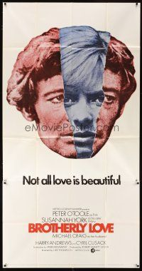 4s588 BROTHERLY LOVE int'l 3sh '70 Susannah York, Peter O'Toole, Not all love is beautiful!