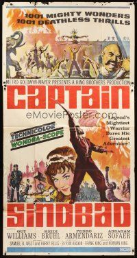 4s595 CAPTAIN SINDBAD 3sh '63 1001 deathless thrills, mighty wonders & nights of love!