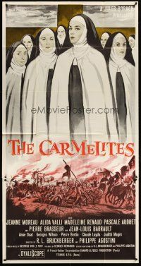 4s596 CARMELITES 3sh '60 art of French Catholic nuns Jeanne Moreau & Alida Valli!