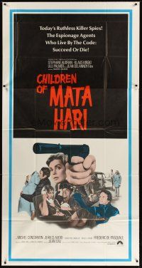 4s601 CHILDREN OF MATA HARI int'l 3sh '70 ruthless killer spies who live by the code succeed or die