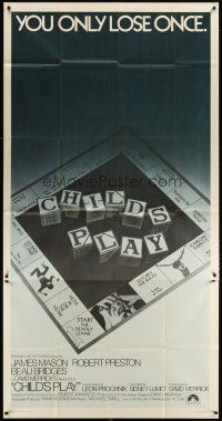 4s603 CHILD'S PLAY int'l 3sh '73 directed by Sidney Lumet, cool board game image!