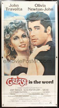 4s659 GREASE int'l 3sh '78 c/u of John Travolta & Olivia Newton-John in a most classic musical!