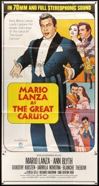 4s660 GREAT CARUSO 3sh R70 different artwork of singer Mario Lanza & pretty Ann Blyth!
