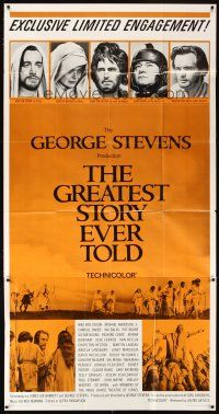 4s662 GREATEST STORY EVER TOLD limited engagement 3sh '65 George Stevens, Max von Sydow as Jesus!