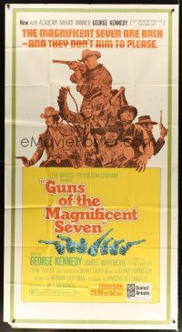 4s665 GUNS OF THE MAGNIFICENT SEVEN 3sh '69 they're back and they don't aim to please!