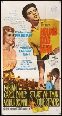 4s675 HOUND-DOG MAN 3sh '59 Fabian starring in his first movie with pretty Carol Lynley!