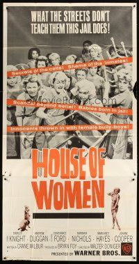 4s677 HOUSE OF WOMEN 3sh '62 Walter Doniger, women's prison, wild female convicts!