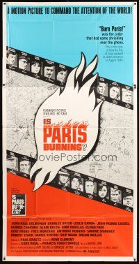 4s688 IS PARIS BURNING 3sh '66 Rene Clement's Paris brule-t-il, World War II all-star cast!