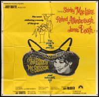 4s231 BLISS OF MRS. BLOSSOM 6sh '68 Shirley MacLaine, Richard Attenborough, wacky bra design!