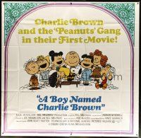 4s233 BOY NAMED CHARLIE BROWN 6sh '70 art of Snoopy & the Peanuts gang by Charles M. Schulz!