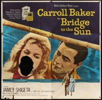 4s235 BRIDGE TO THE SUN 6sh '61 James Shigeta & Carroll Baker had a love between two worlds!