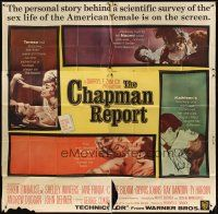 4s238 CHAPMAN REPORT int'l 6sh '62 Jane Fonda, Shelley Winters, from Irving Wallace sex novel!